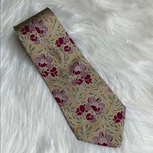 Talbott Studio Floral 100% Silk Neck Tie